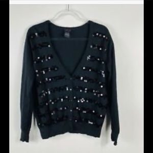 Torrid black cardigan with sequins